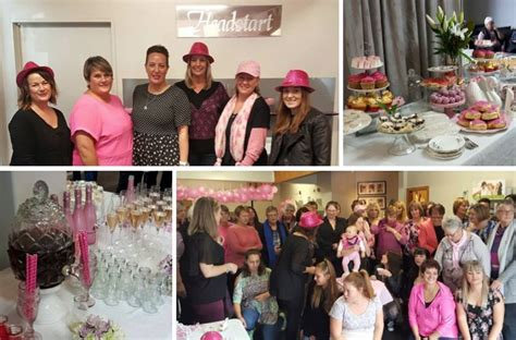 headstart total body hairdresser and beauty therapy salon our pink ribbon high tea hairdresser beauty therapy in
