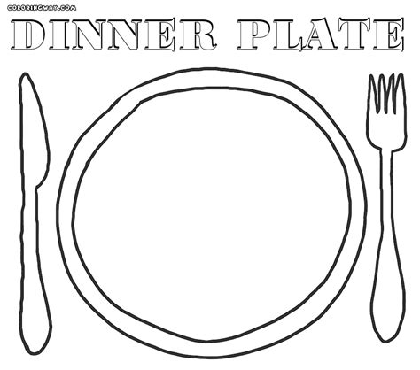 dinner plate coloring sheet coloring pages