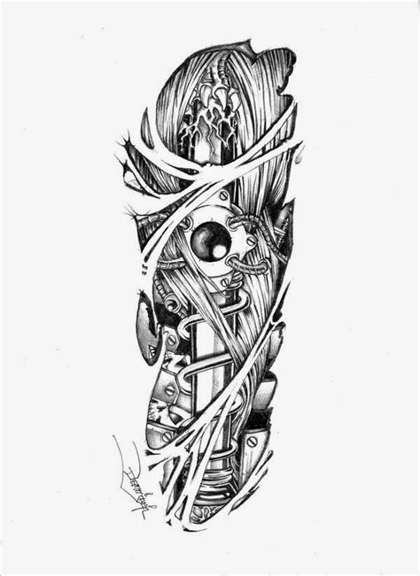 24 mechanical tattoo designs