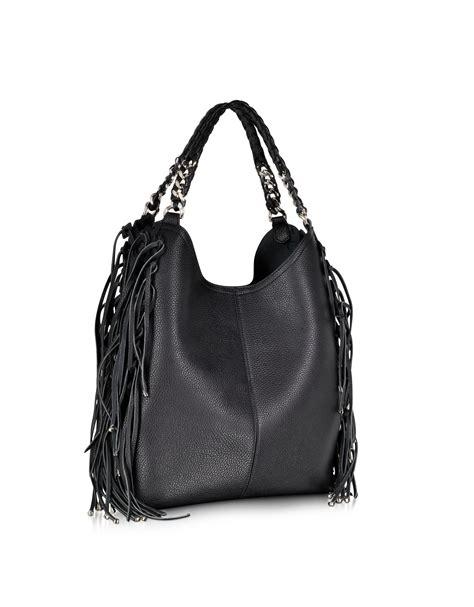 Roberto Cavalli Rome Leather Hobo by Roberto Cavalli Fringe Black Leather Hobo Bag In
