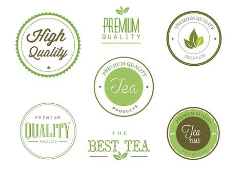 tea label design vector free tea labels vector set download free vector art