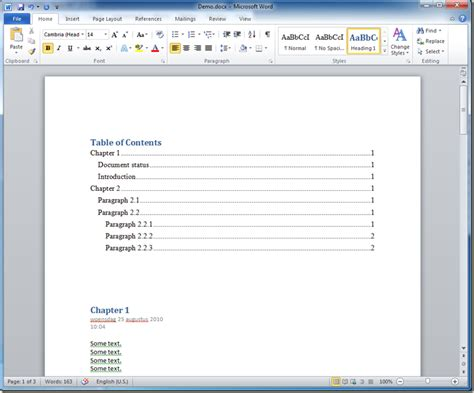 Table Of Contents On Word by How To Generate A Table Of Contents For An Onenote 2010