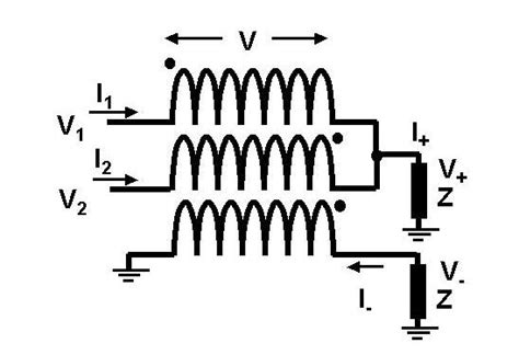 common mode choke rejection trifilar transformer common mode rejection circuit signal recovery hybrid combiner rf