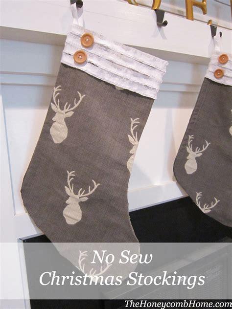 sew christmas stocking with lining no sew christmas stocking