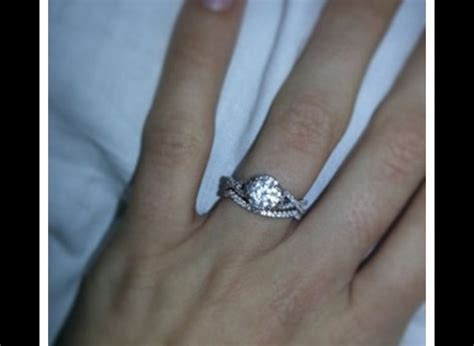 wedding band engagement ring with halo and infinity band