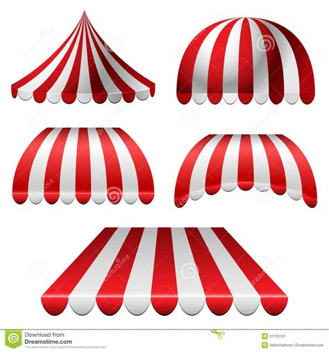 red and white striped awning awning set stock image image 31723121