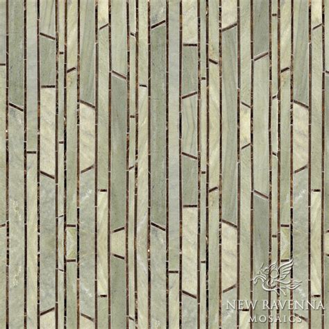 bamboo stone mosaic contemporary tile other metro