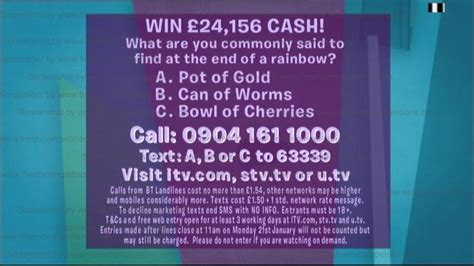 Loose women competition question today's date