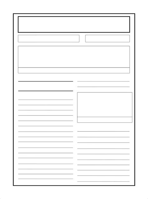 free printable newspaper template for students free blank newspaper sle template for printable