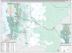 king county zip code map king county wa wall map premium style by marketmaps