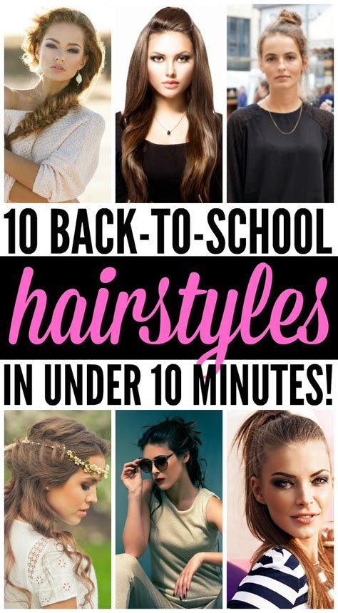 Back To School Hairstyles For Medium Hair by 10 Back To School Hairstyles In 10 Minutes