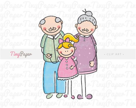 clipart nonni items similar to nonni e nipotina clip digitale per