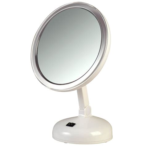 Best Lighted Magnified Makeup Mirror by Floxite 10x Magnifying Vanity Mirror With 360 Degree Lighting
