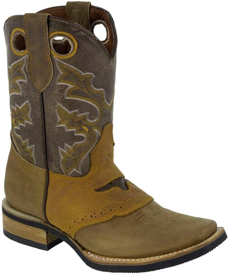 Country Boots 58 Leather mens real leather western cowboy boots assorted colors square toe rodeo ranch ebay