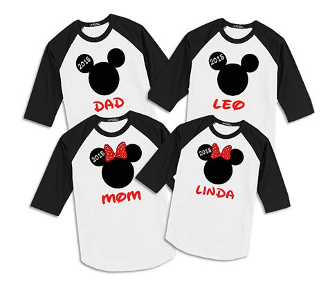 Family Raglan quot mickey minnie quot family raglan t shirts family vacation