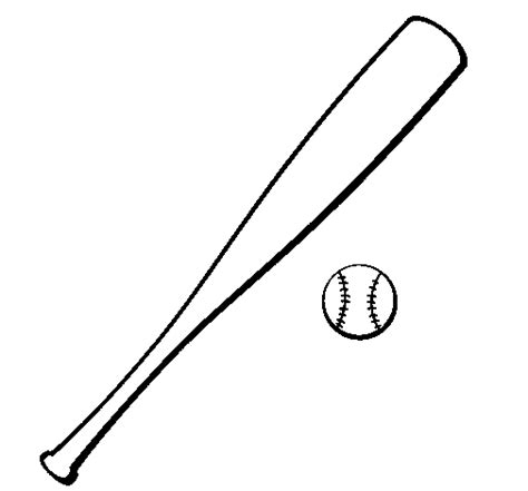 coloring page of a baseball bat colored page baseball bat and baseball ball painted by beto