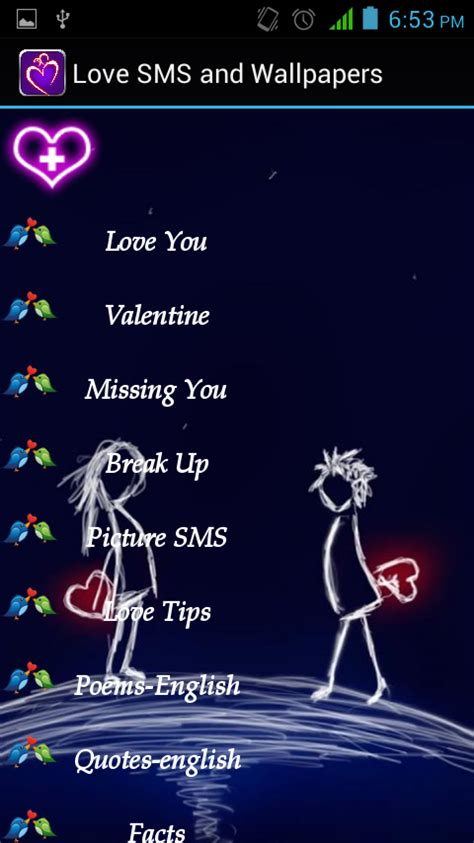 love sms and wallpapers android apps on google play