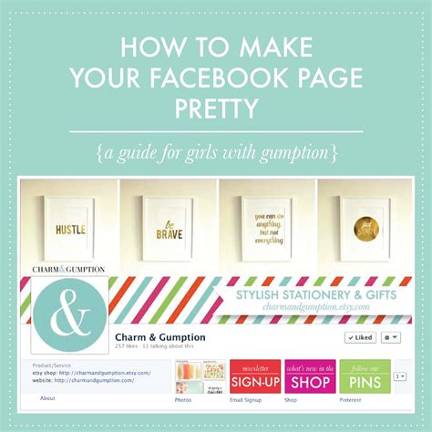 how to make your own facebook page with fans charm gumption blog how to make your facebook page pretty