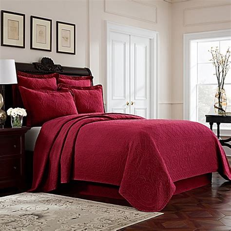 red coverlet twin buy williamsburg richmond twin coverlet in red from bed