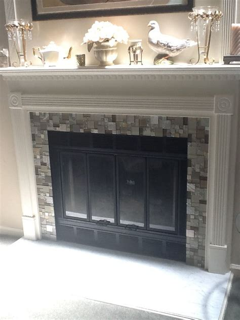 best 25 glass tile fireplace ideas on