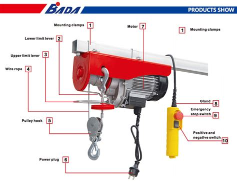 bada pab kg capacity mini wire rope electric material hoist price view electric hoist