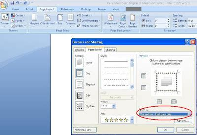 membuat margin makalah cara membuat bingkai pada makalah dengan ms word