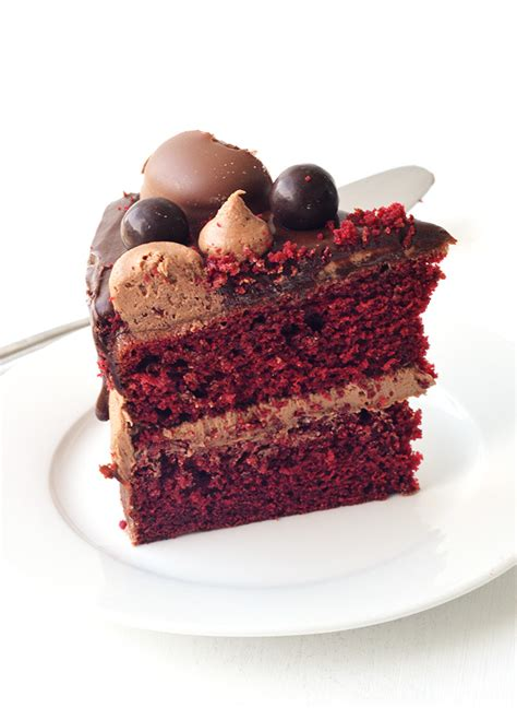 red velvet layer cake with chocolate frosting sweetest menu