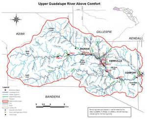guadalupe river map guadalupe blanco river authority guadalupe river basin map