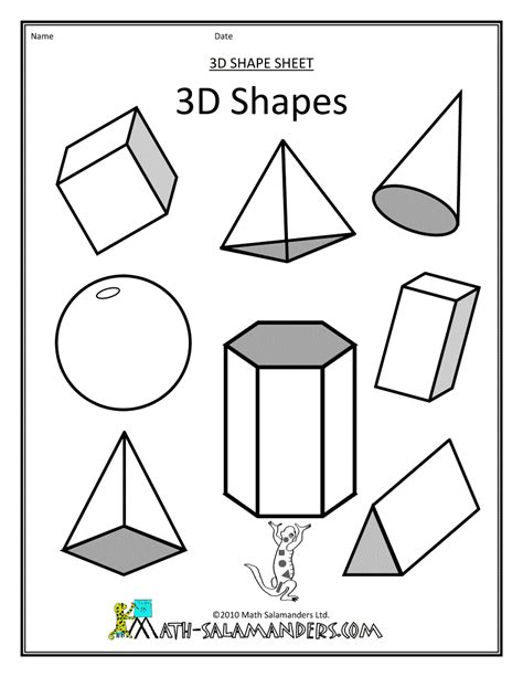 coloring pages geometric shapes 3d shapes kinder 3d shapes pinterest