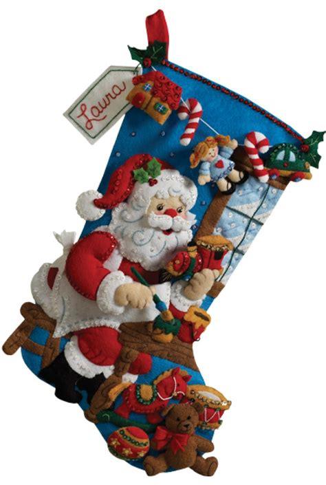 Beautiful Bucilla Christmas Stocking Kit #6: In-the-workshop-bucilla-stocking-kit.jpg