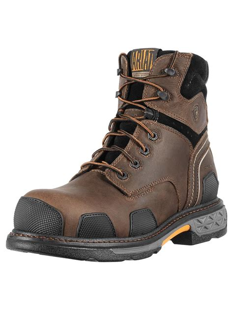 mens lace up work boots ariat s overdrive toe 6 quot lace up work boots