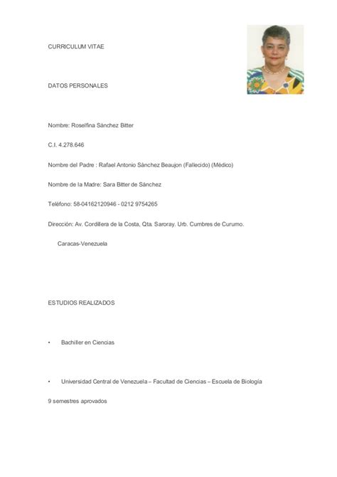 Curriculum Vitae Resume Sles Free 17 best images about cv en espa 241 ol on learning and we