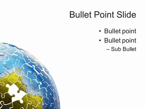 powerpoint template world world puzzle powerpoint template