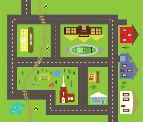 printable play road map toy car mat fabric mleval spoonflower