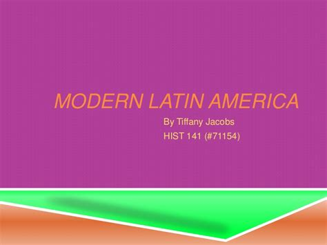 libro contemporary latin america contemporary modern latin america