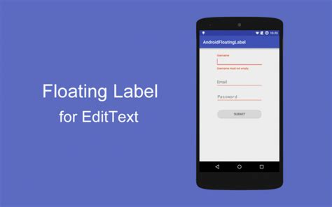 label design android how to add floating label android for edittext using