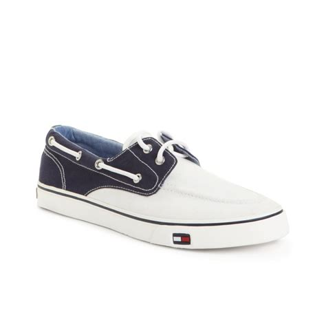 hilfiger white sneakers hilfiger fred boat sneakers in white for white