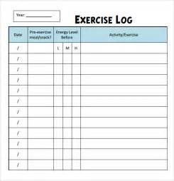 Exercise Template by Sle Workout Log Template 8 In Word Pdf Psd