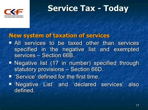 service tax sections list new regime of service taxation in india dr sanjeev agarwal