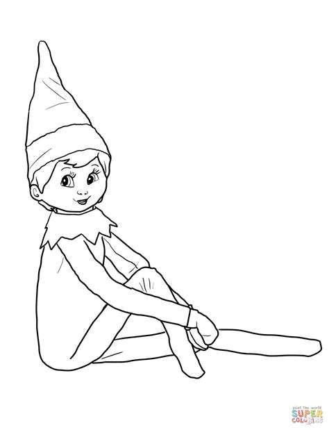 on the shelf coloring page on the shelf coloring pages search hair