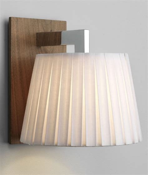 Frida Bedside L Pleated Shade by Walnut Wall Light With Pleated Shade For Bedside Or Living