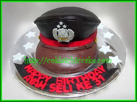 Betel Topi 6 15cm cake topi polisi ayah seli jual kue ulang tahun