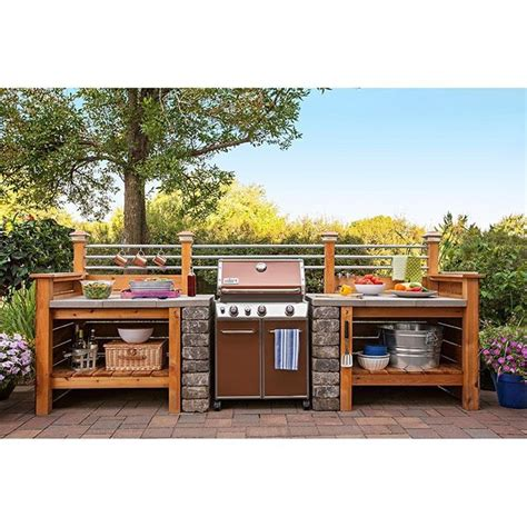 outdoor kitchens lowes 1000 ideas about grill station on backyard