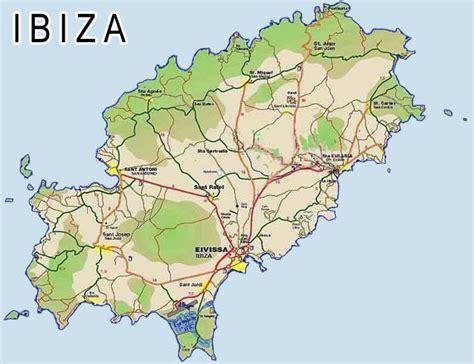 printable ibiza road map ibiza map of ibiza balearic island islas baleares