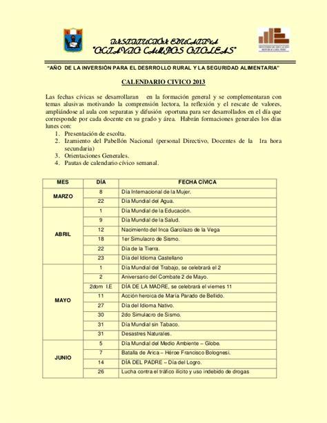 Calendario Civico Escolar Calendario Civico Escolar