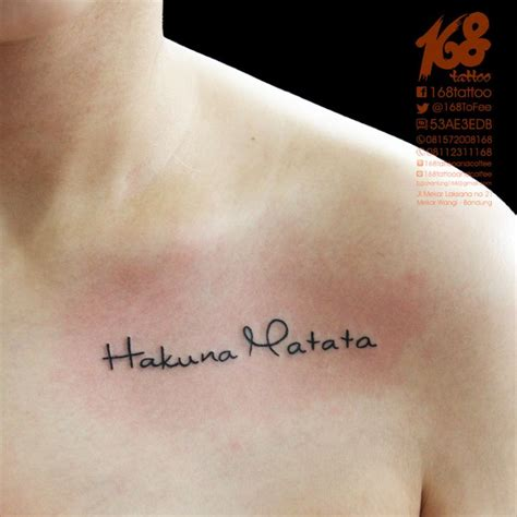 hakuna matata tattoo design collection of 25 hakuna matata