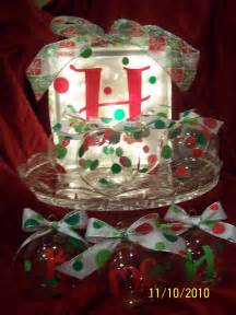 studio 5380 christmas glass block and ornaments