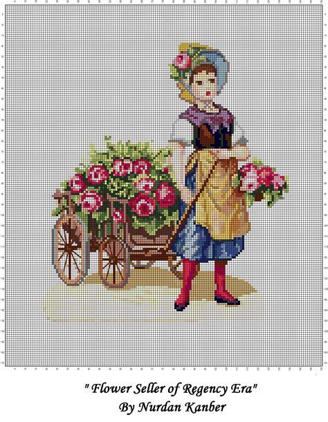by nurdan kanber blogspotcom flower seller by nurdan kanber needlepoint pictures
