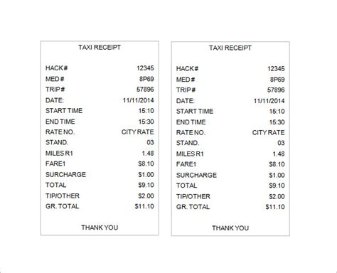 taxi receipt template philippines taxi invoice template hardhost info
