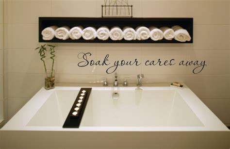 vinyl walls for bathrooms wall decal quote soak your cares away vinyl wall decal